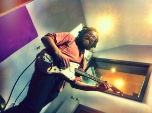 Guitar action with Christer